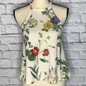 Gaze Floral Knit Stretchy Tank Top